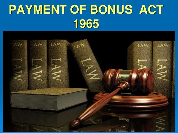 Payment of-bonus-act-1965