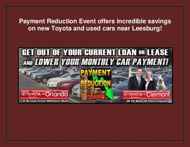 Payment Reduction Event offers incredible savings on new Toyota and used cars near Leesburg!