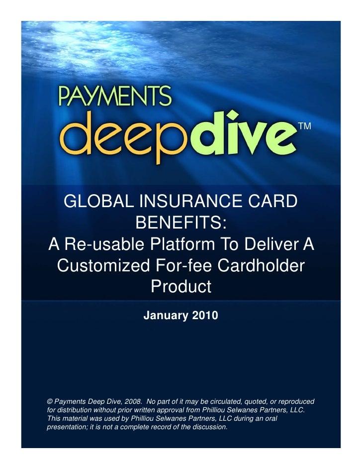 Payments Deep Agenda On Global Insurance Card Benefits