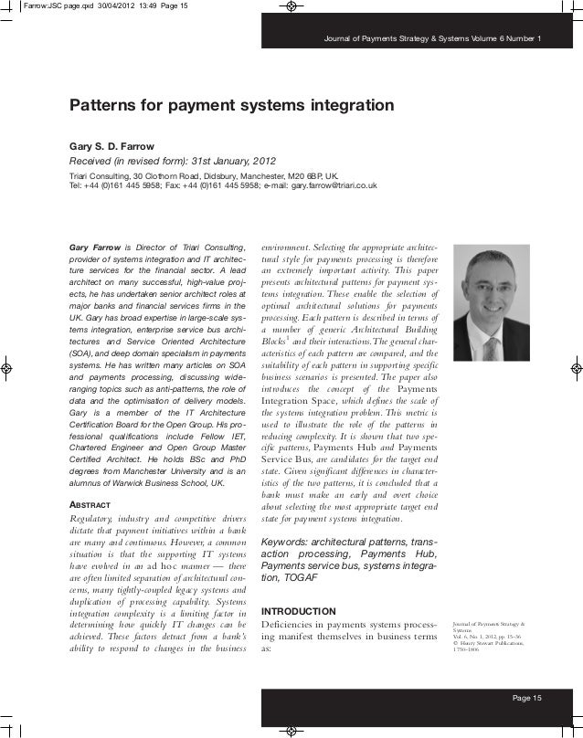 Patterns for Payment Systems Integration