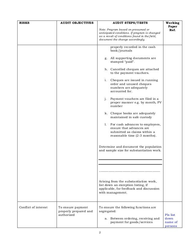 audit working papers template. Black Bedroom Furniture Sets. Home Design Ideas
