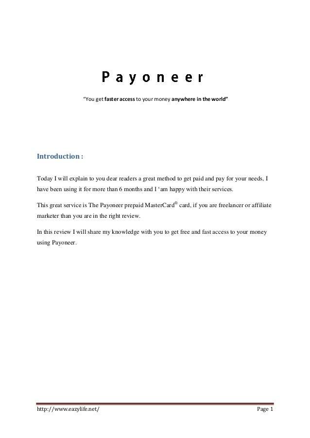 Payoneer: Free Credit Card + $25