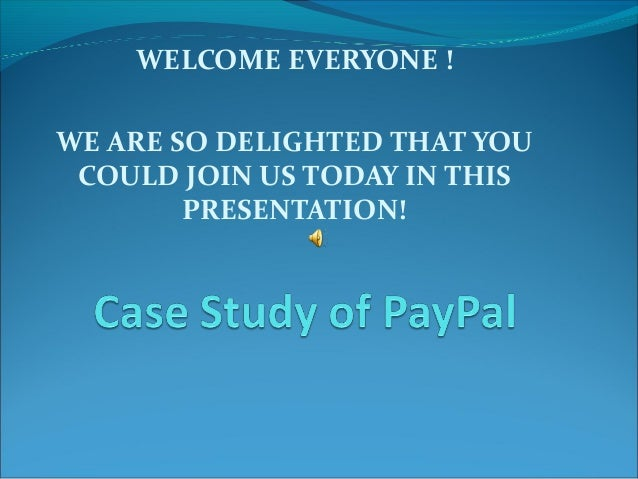 WELCOME EVERYONE ! WE ARE SO DELIGHTED THAT YOU COULD JOIN US TODAY IN THIS PRESENTATION!
