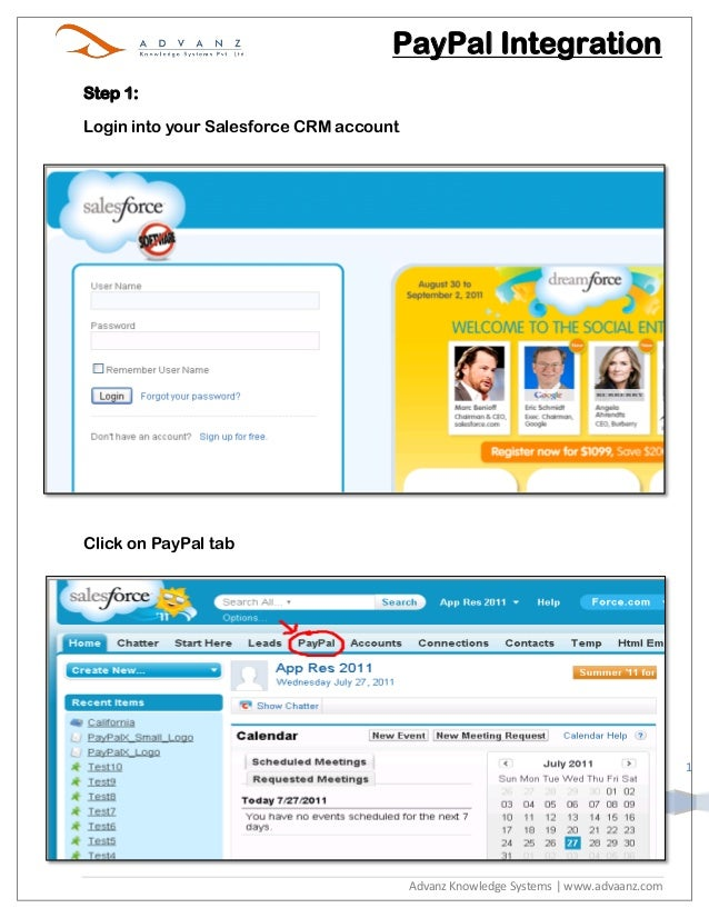 PayPal IntegrationStep 1:Login into your Salesforce CRM accountClick on PayPal tab                                        ...