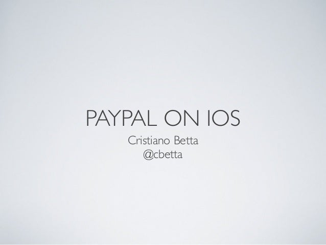 PayPal on iOS + 9 great free app ideas