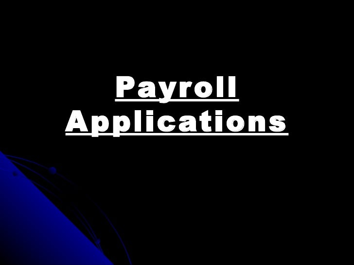 Payroll applications new