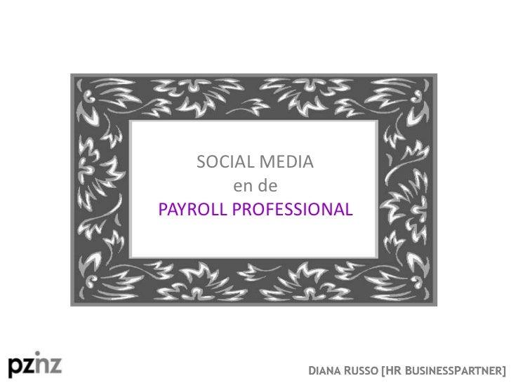 Social Media en de Payroll Professional