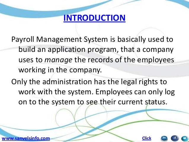 payroll research papers A computerized payroll system must be able to keep and generate accurate reports on employee income an equally important objective of any payroll system is to generate paychecks and pay stubs.