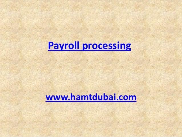 Payroll processing dubai