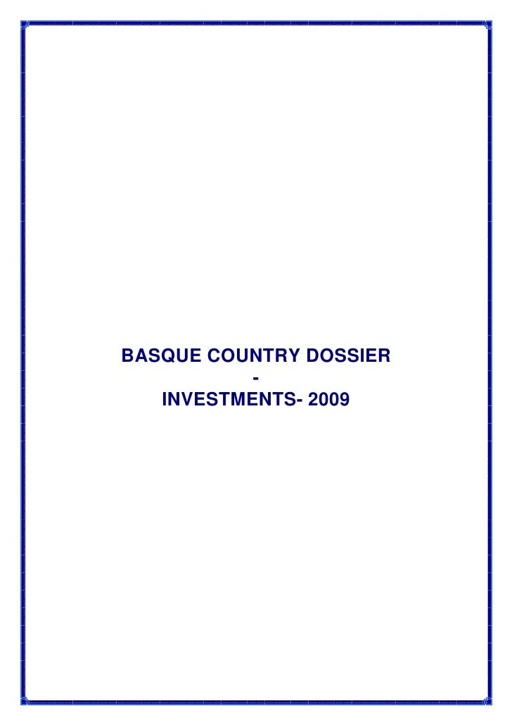 Pays Basque Investments 2009