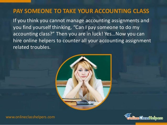 Accounting assignment help service for students like you