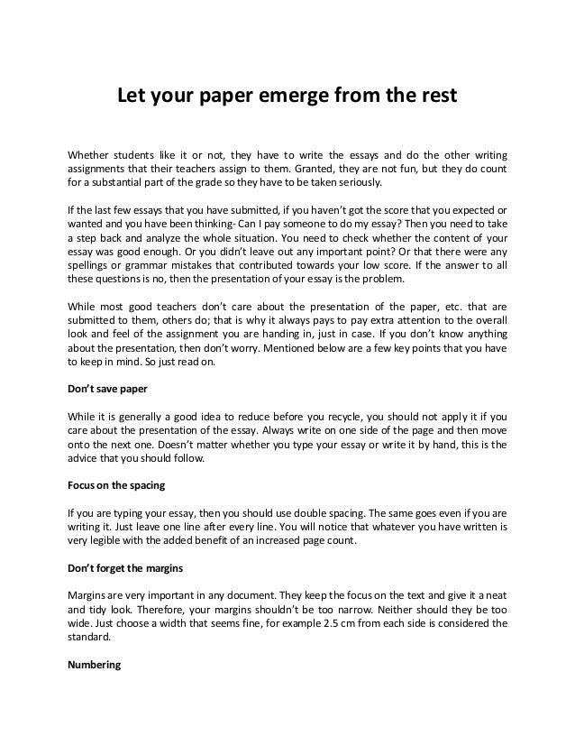 Essay pay write