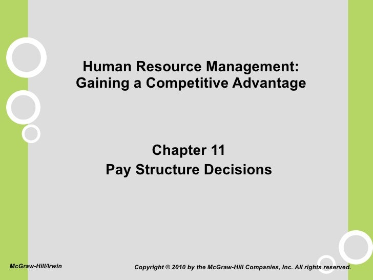Human Resource Management: Gaining a Competitive Advantage <ul><li>Chapter 11 </li></ul><ul><li>Pay Structure Decisions </...