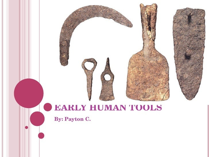 EARLY HUMAN TOOLS By: Payton C.