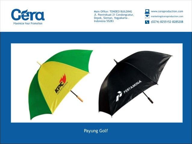 Payung Promosi Murah (Payung Golf)