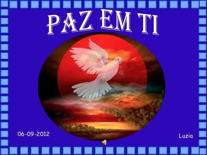 Paz em ti