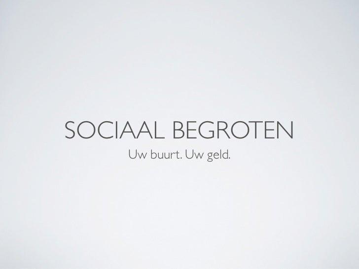 Sociaal Begroten