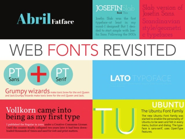 Web Fonts Revisited