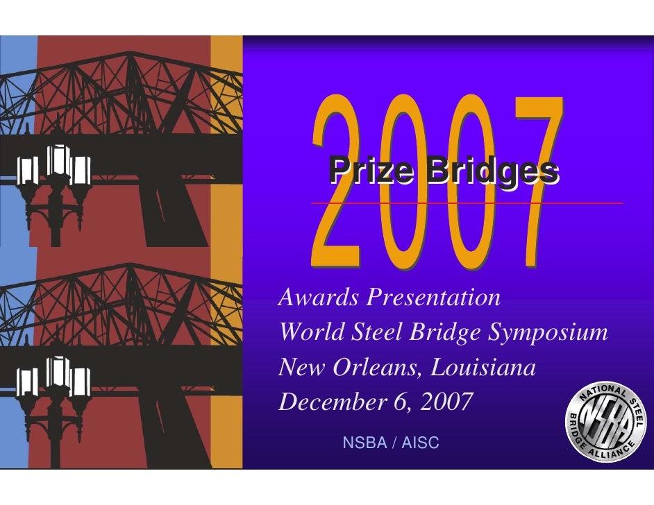 07 AASHTO Bridge Committee Awards Presentation