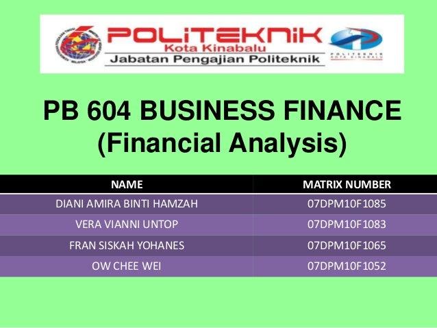 Pb 604 business finance presentation