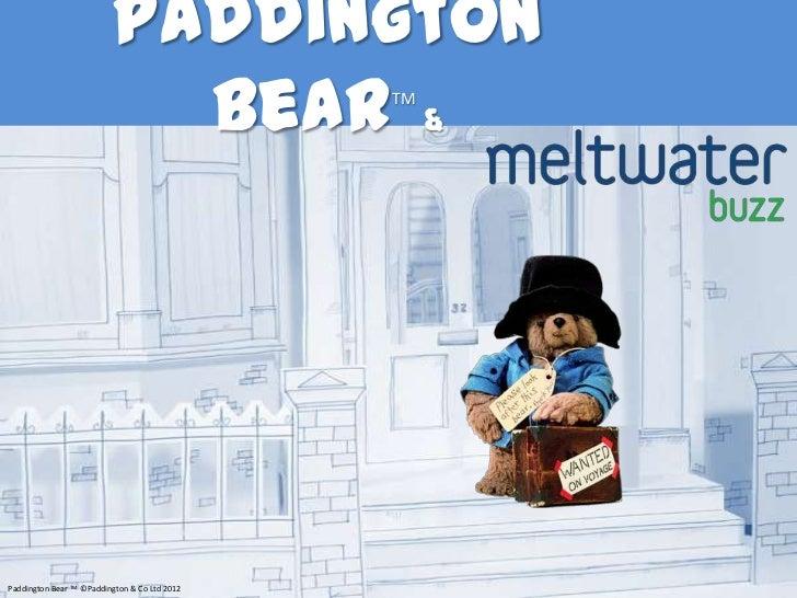 Paddington Bear and Meltwater Buzz