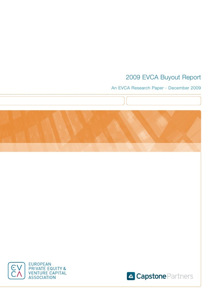 2009 EVCA Buyout Report An EVCA Research Paper - December 2009