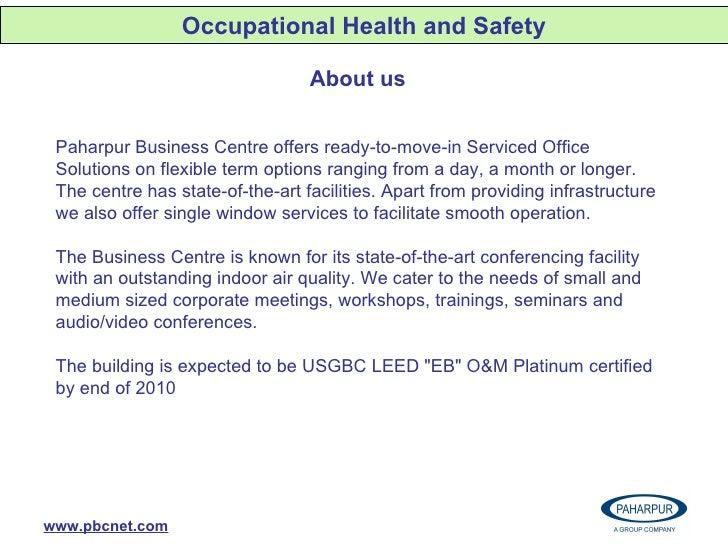 PBC efforts towards Health Aspects