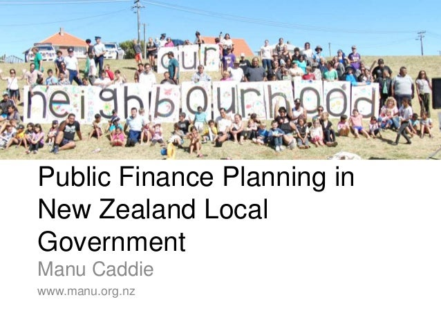Participatory Budgeting & Public Finance Planning in New Zealand
