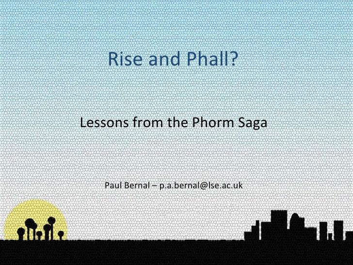 Rise and Phall