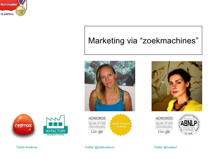 Presentatie directie PBG - Marketing via Zoekmachines