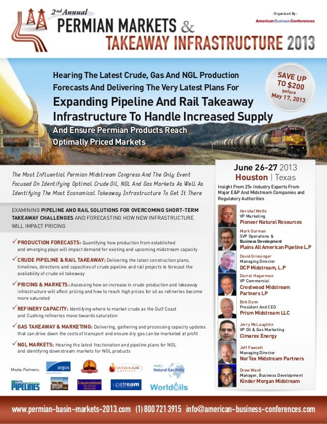 Permian Markets And Takeaway Infrastructure Congress