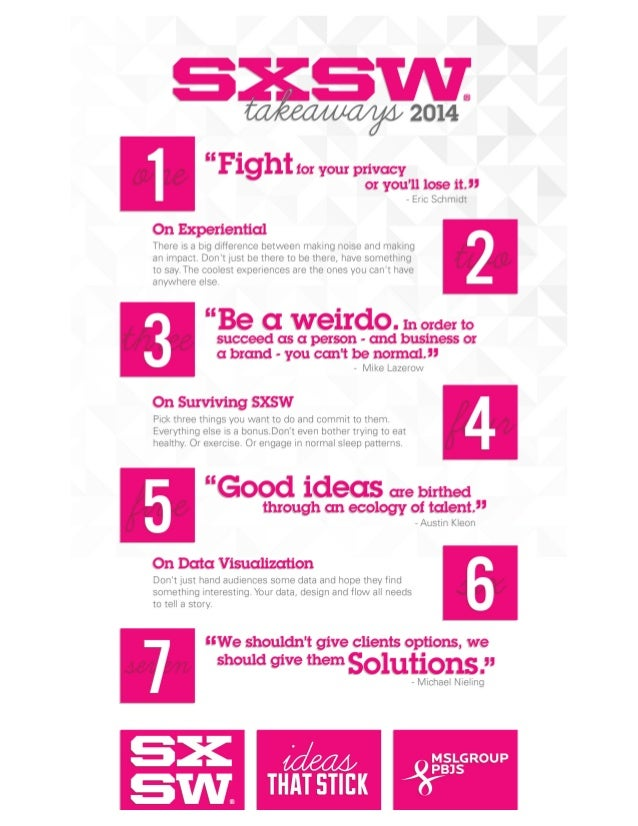 Seven SXSW 2014 Takeaways