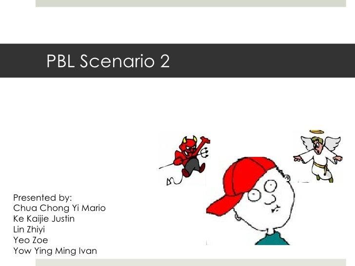 PBL Scenario 2 Presented by: Chua Chong Yi Mario Ke Kaijie Justin Lin Zhiyi Yeo Zoe Yow Ying Ming Ivan