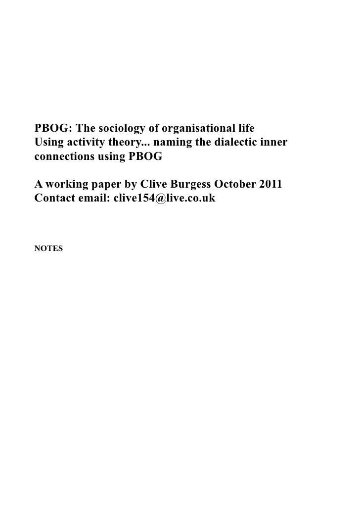 Pbog dialectics of activity system  2011