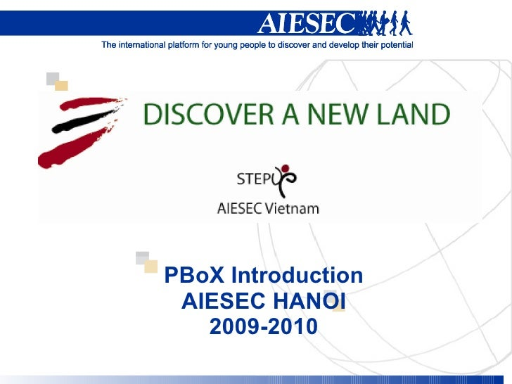PBoX Introduction AIESEC HANOI 2009-2010