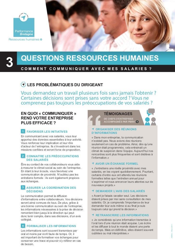 Questions Ressources Humaines : Comment communiquer avec mes salariés ?