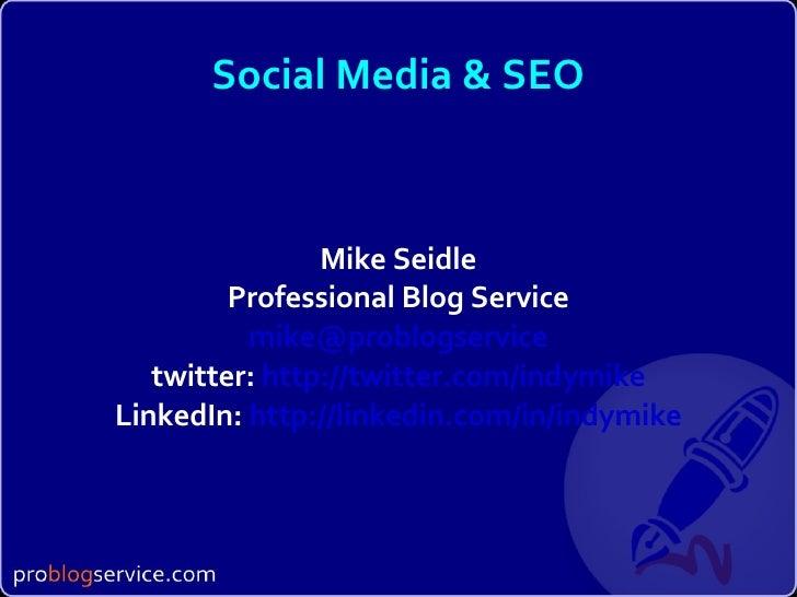 SEO for Social Media