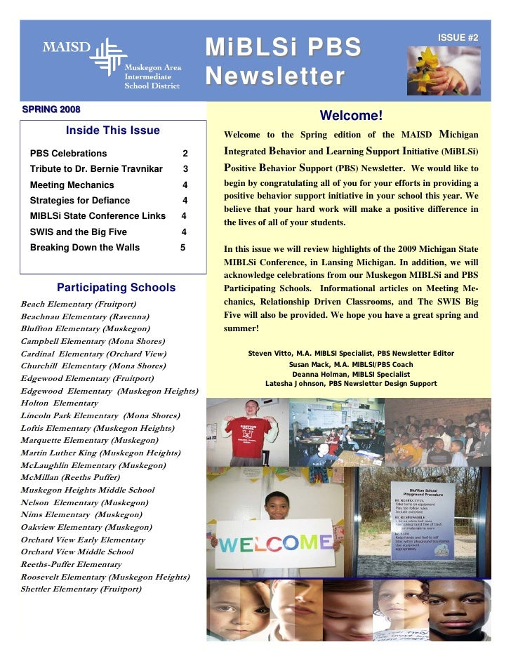MIBLIS Muskegon Pbs Spring Newsletter 2009
