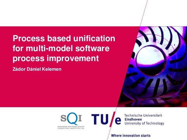 Process based unificationfor multi-model softwareprocess improvementZádor Dániel Kelemen