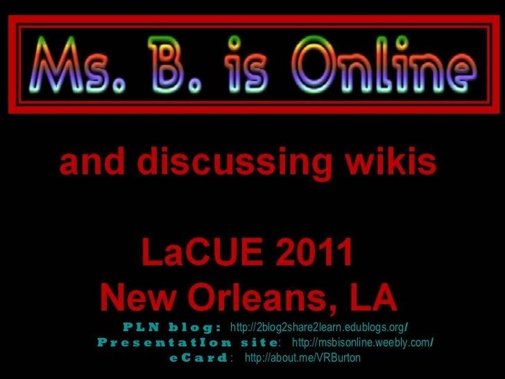 P L N   b l o g :    http://2blog2share2learn.edublogs.org / P r e s e n t a t I o n   s i t e :    http://msbisonline.wee...