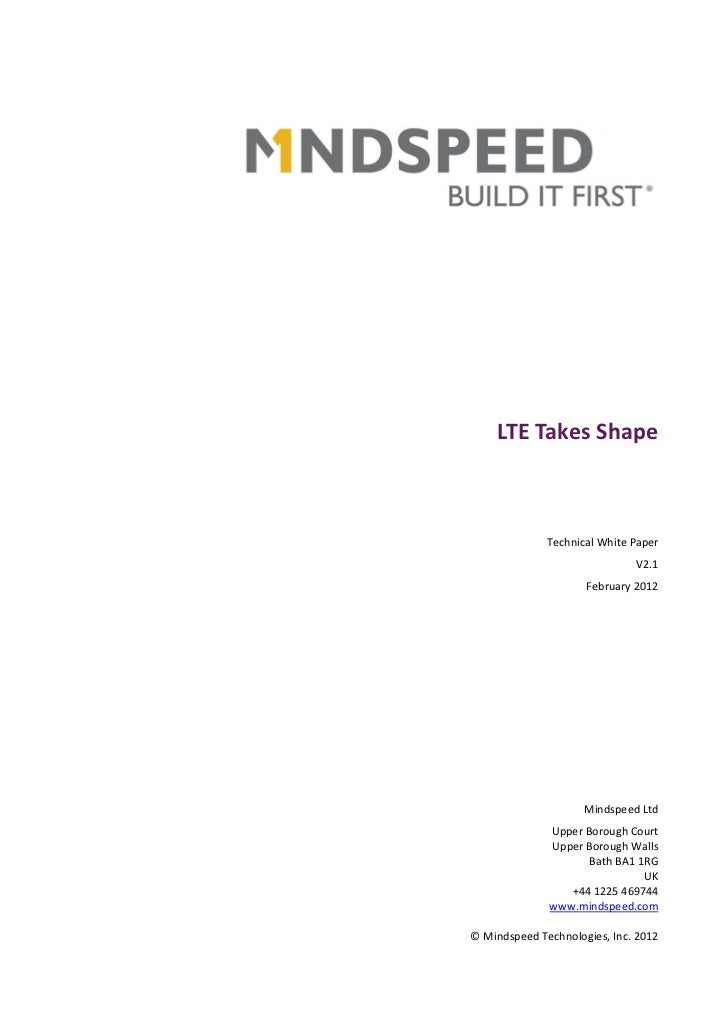 White Paper: LTE Needs Small Cells