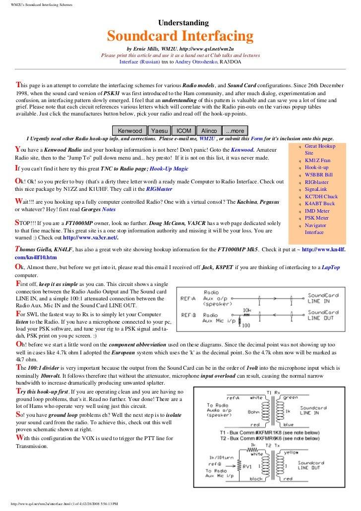 WM2Us Soundcard Interfacing Schemes                                                                                    Und...