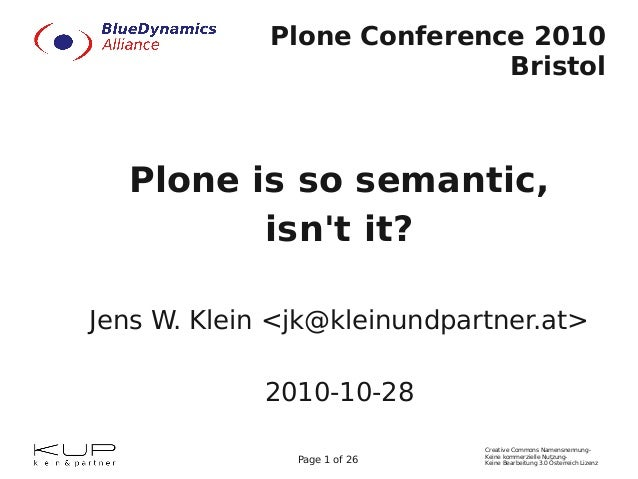 Plone is so semantic,  isn't it?