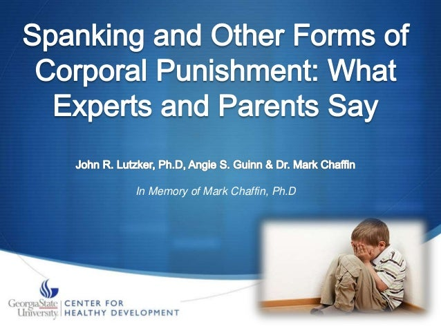 Corporal punishment in the home