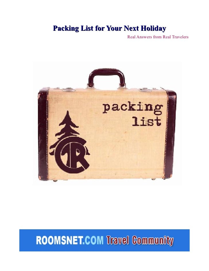 Packing List for Your Next Holiday