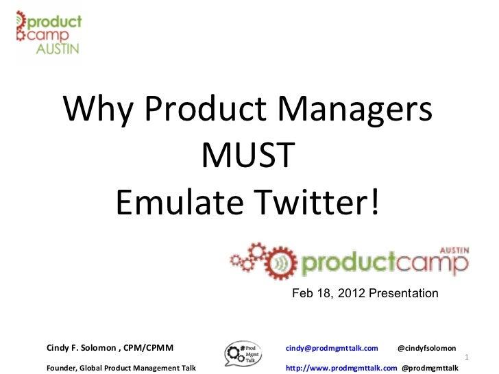 PCA8 Presentation at PCampAustin Feb 18, 2012