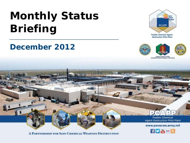 December 2012 PCAPP Monthly Status Briefing