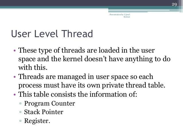 Hybrid Level Threads User Level Thread • These Type