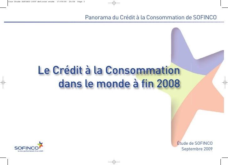Le crédit à la consommation dans le Monde (fin 2008)
