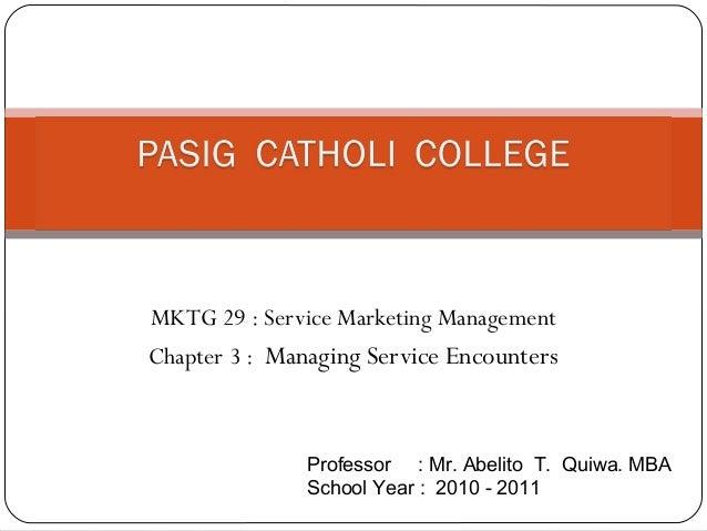 Pcc mktg 29 chapter 3 serv. mktg mgmt